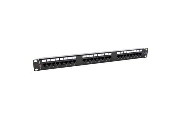Dynamix PP-C6-24 24 Port 19 Cat6 UTP Patch Panel T568A & T568B Wiring. 1RU. 110 termination