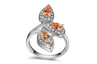 Krystal Couture Ring Embellished with Swarovski crystals  Size US 7