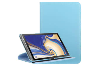 For Samsung Galaxy Tab S4 10.5in Case Baby Blue Lychee Texture Folio