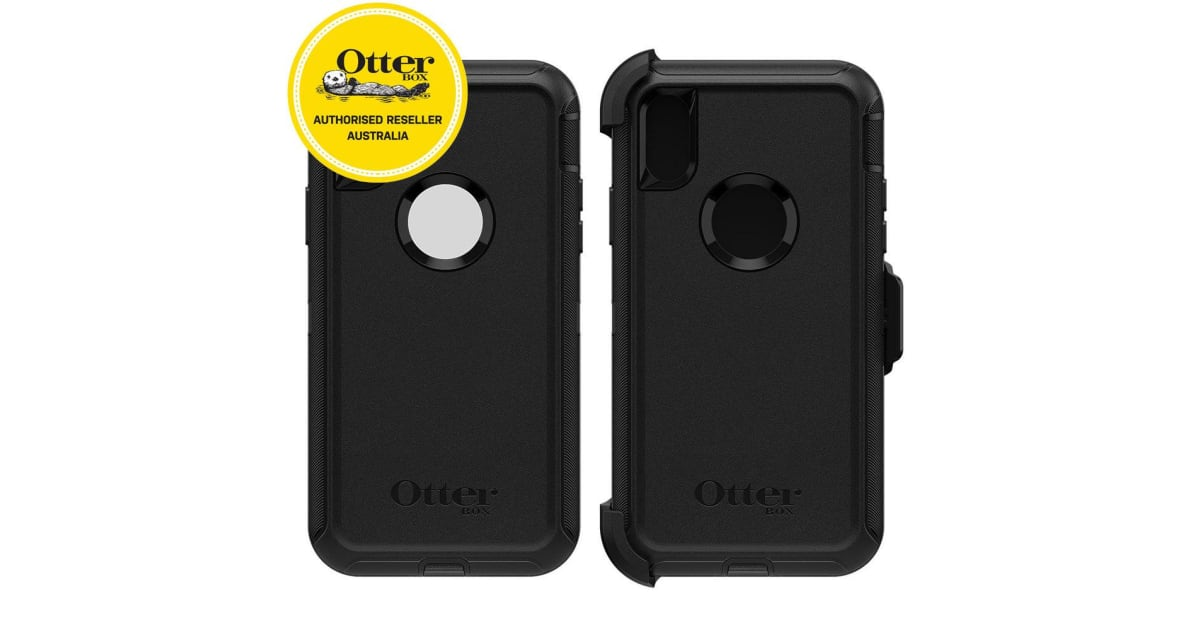 buy popular a101c 5d54f Otterbox Defender Case for iPhone X/Xs - Black | Phone Cases