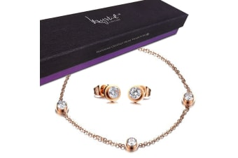 Boxed 2 Pieces Cocos Set Embellished with Swarovski crystals