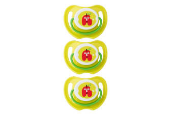 3PK Pigeon Calming Baby Soother Dummy Size S Feeding Pacifier 0m+ Apple Green