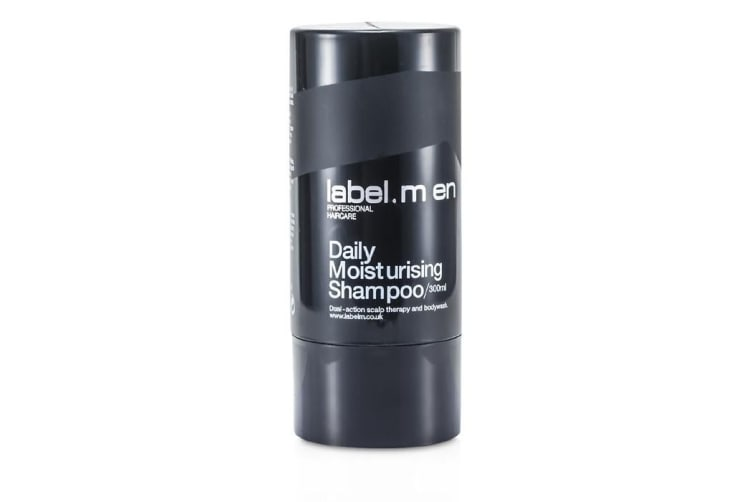 Label.M Men's Daily Moisturising Shampoo (Dual-Action Scalp Therapy and Bodywash) 300ml/10.1oz