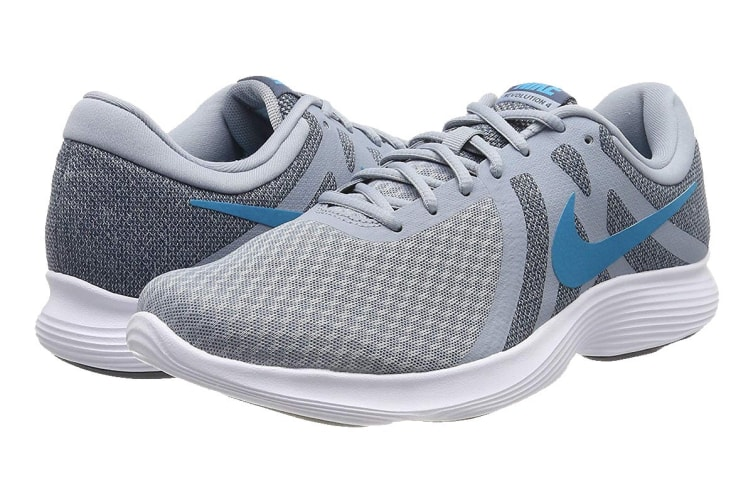 Nike Men's Revolution 4 Running Shoe (Blue/White, Size 10.5 US)