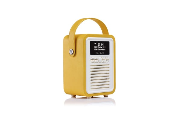 View Quest Retro Mini DAB+ Radio & Speaker - Mustard (MINI-MD)