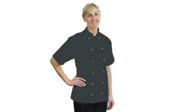 BonChef Adults Danny Short Sleeved Chef Jacket (Black)