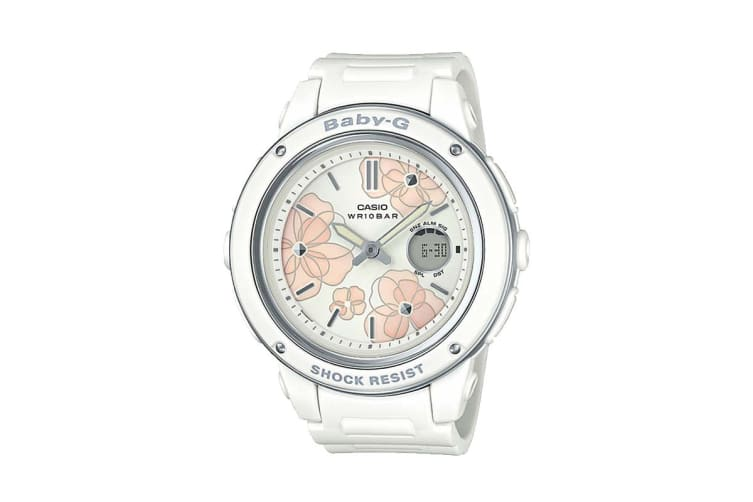 Casio Baby-G Analog Digital Female Watch with Resin Band - White (BGA150FL-7A)