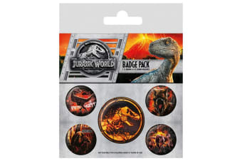 Jurassic World Button Badges 5 Pack (Multi-Colour) (One Size)