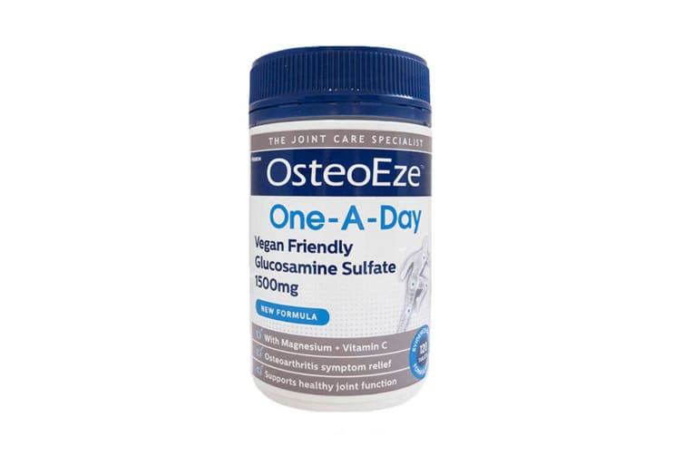 Herron OsteoEze 120 Tablet One A Day Vegan Glucosamine Sulfate 1500mg Joint Care