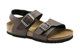 Birkenstock New York Kids BF Pull Up Sandal (Brown, Size 28 EU)