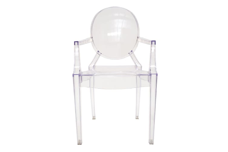 Replica Philippe Starck Louis Ghost Arm Chair | Clear Transparent