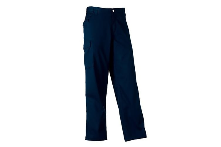 Russell Workwear Mens Polycotton Twill Trouser / Pants (Long) (French Navy) (36W x Long)