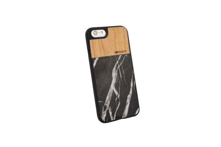 buy online 2750d 29d81 For iPhone 6 6S Case Black Bamboo Marble Wooden Protective Cover