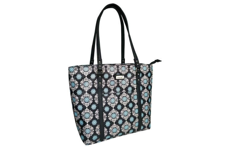 Sachi Insulated Two Tote Black Medallion