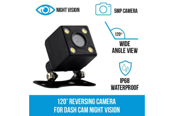 Elinz 120deg Reversing Camera for Dash Cam Night Vision