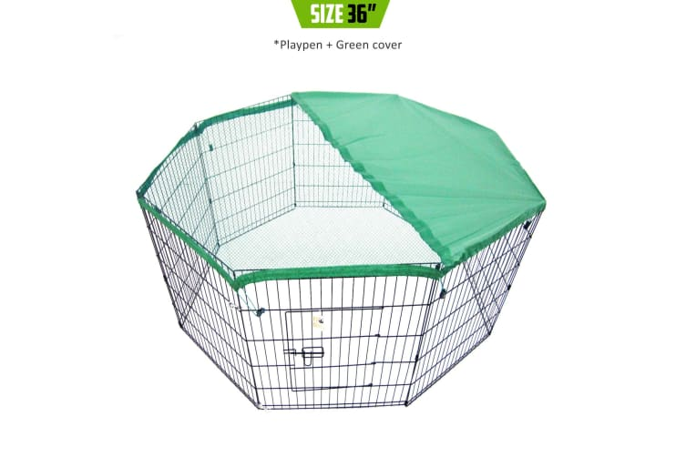 """36"""" 8 Panel Foldable Pet Playpen With Cover"""
