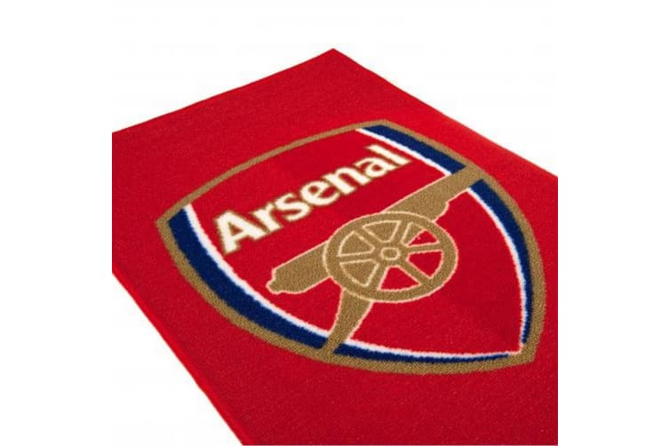 Arsenal FC Rug (Red) (One Size)