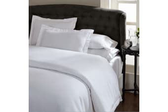 Ddecor Home 1000 Thread Count Quilt Cover Set Cotton Blend Classic Hotel Style - King - White