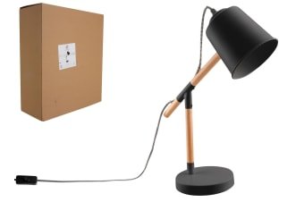 Luminite Dena Black Desk Lamp 33x13x45cm