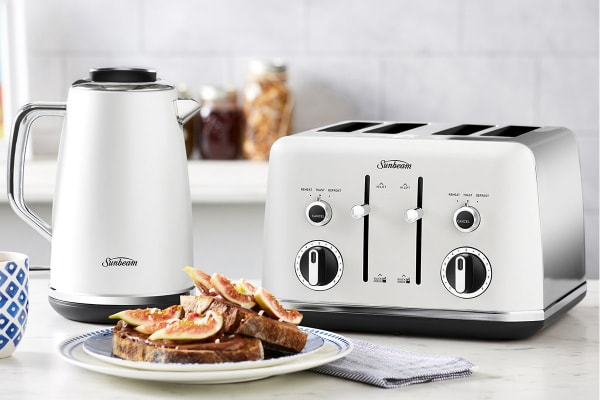 Sunbeam Gallarie Collection 4 Slice Toaster - White Sky (TA2640WS)