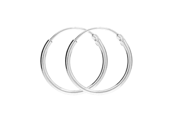.925 Basic Hoops 25mm-Silver