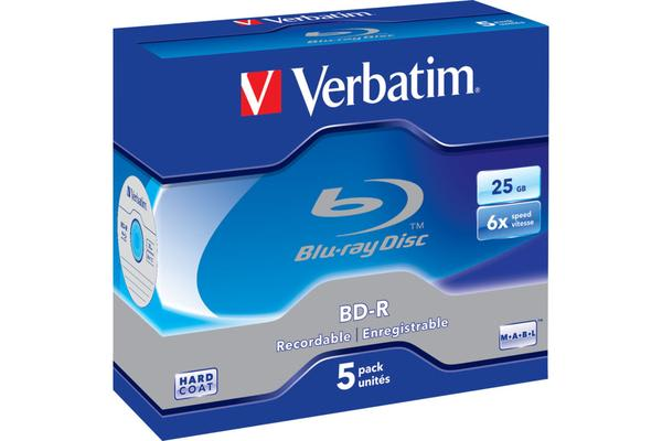 Verbatim Blu-Ray Bd-R 25Gb 5 Pack