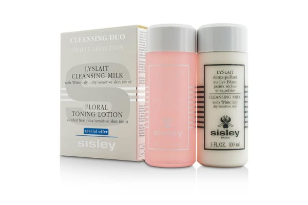Sisley Cleansing Duo Travel Selection Set: Cleansing Milk w/ White Lily 100ml/3oz + Floral Toning Lotion 100ml/3oz (2pcs)