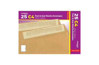 Impact C4 Peel And Seal Manilla Envelopes (Pack Of 25) (Brown)