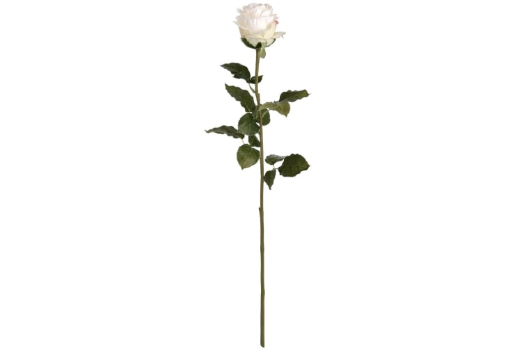 Hill Interiors Artificial Traditional Rose (White) (One Size)