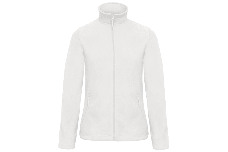 B&C Collection Womens/Ladies ID 501 Microfleece Jacket (White) (M)