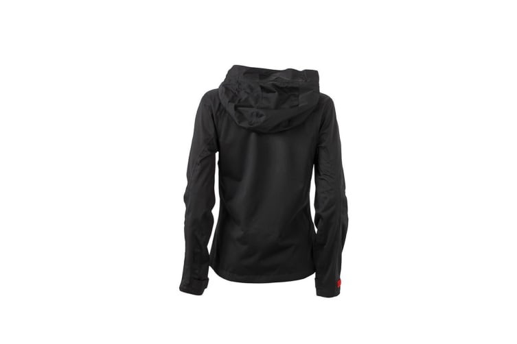 James and Nicholson Womens/Ladies Outdoor Jacket (Black/Red) (L)