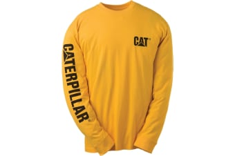 Caterpillar C1510034 TRADEMARK T-SHIRT / Mens Tops (Yellow) (3XL)