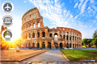 ITALY & GREECE: 21 Day Italy Tour and Greek Island Cruise Including Flights For Two