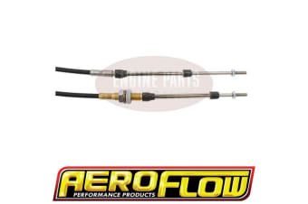 Aeroflow Bulkhead/Clip Combo Cable Black 3.6Ft Total Length