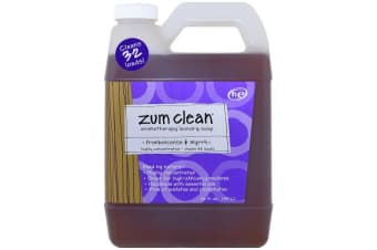 Indigo Wild Zum Clean Aromatherapy Highly Concentrated Handmade Essential Oils for Laundry & Machine Friendly Clothes Washing Soap - Frankincense & Myrrh, 940ml