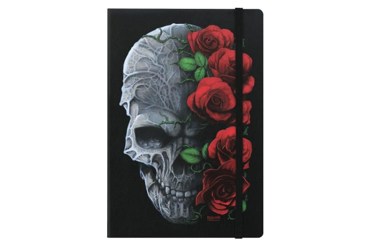 Requiem Collective Immortal Bloom A5 Hard Cover Notebook (Black) (One Size)