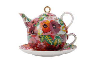 Maxwell & Williams Teas & C's 300ml Tea for One Teapot Cup Mug Saucer Set Poppy