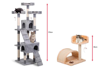Pawever Pets Cat Scratching Post Tree Pack