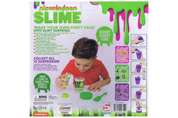 Nickelodeon Slime Make Your Own Party Pack Game