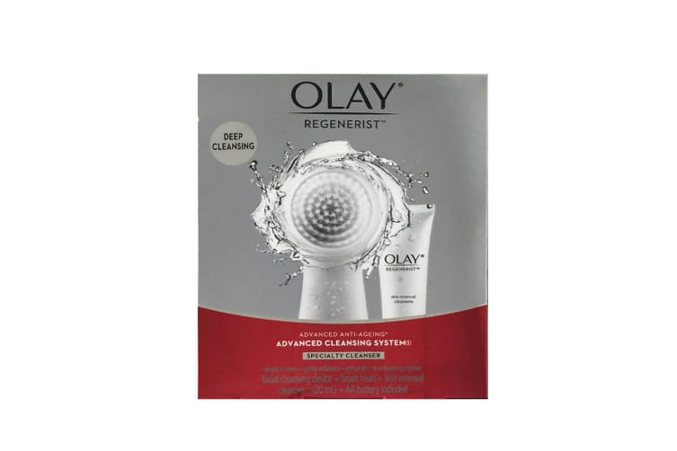3PK Olay Regenerist Advanced Anti-Ageing Brush Cleansing w/Facial Skin Cleanser
