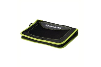 Shimano Fishing Lure Wallet with 9 Plastic Zip Lock Sleeves