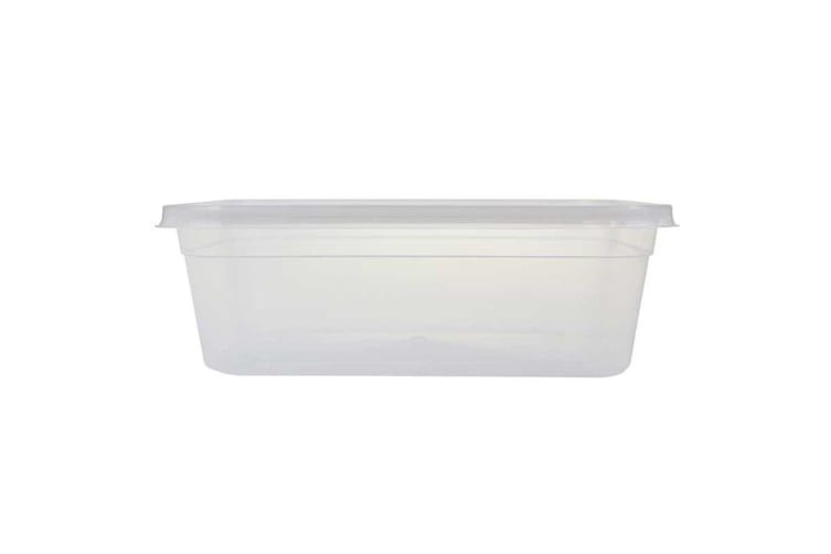 24 x2000ML TAKE AWAY CONTAINERS with LIDS DISPOSABLE PLASTIC FOOD CONTAINER 2L WMCV