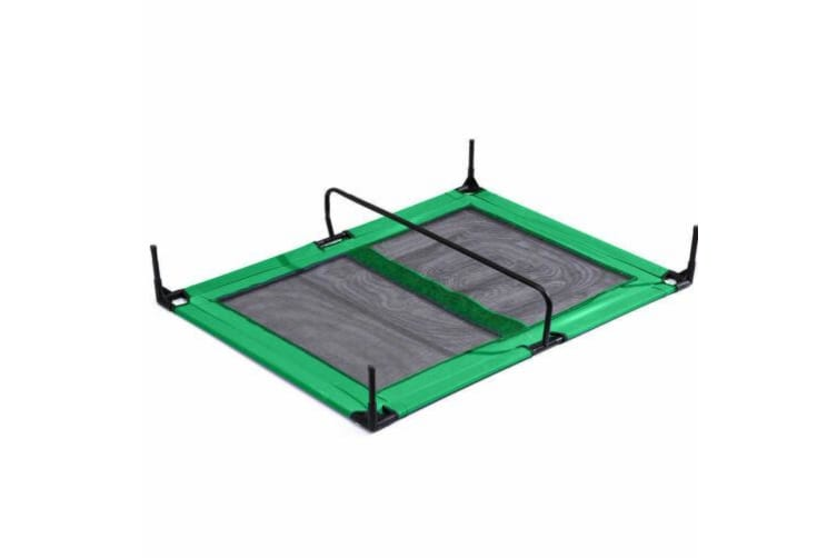 Pawz Heavy Duty Pet Bed Trampoline Dog Puppy Cat Hammock Mesh  Canvas M Green