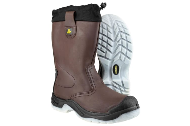 Amblers Steel FS219 Safety Pull On / Mens Boots / Riggers Safety (Brown) (10 UK)