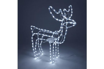 Jingle Jollys Christmas Reindeer LED Motif Lights (Cold White)