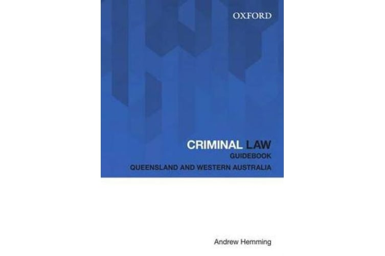 Criminal Law Guidebook - Queensland and Western Australia
