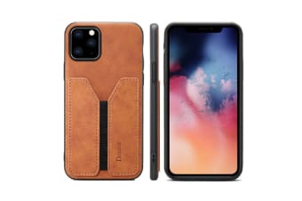 Select Mall Plug-in phone case Mobile Phone Case Protective Cover Suitable for iPhone 11 Series-Brown Iphone11 6.1 inch