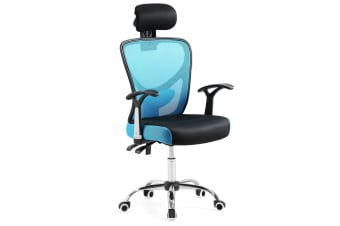 Reclining Mesh Ergonomic office computer chair - Black&Blue