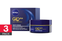 3-Pack Nivea Q10 Plus Anti Wrinkle Night Cream - 50ml