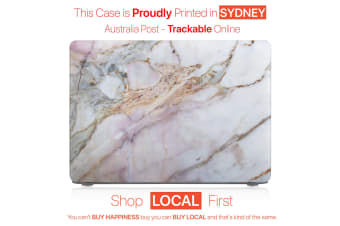 "Hard Case Cover for Apple Macbook Pro 13"" Inch  A1708-Matte Clear-Marble Crack"